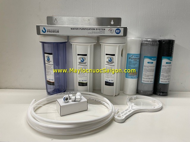 Bộ lọc nước 3 cấp (lọc cho máy điện giải)