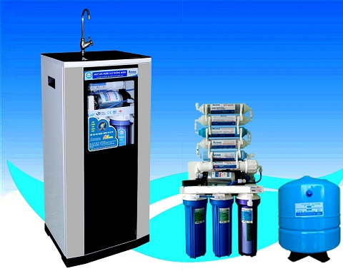 Tủ máy lọc nước RO - kiếng cường lực